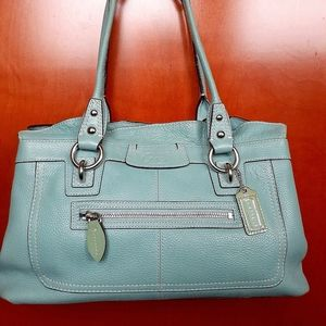 Coach Leather Pastel Handbag